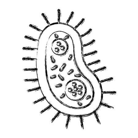 unicellular bacteria laboratory icon vector illustration design
