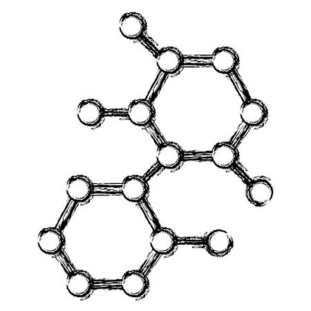 分子構造分離アイコンベクトル図設計