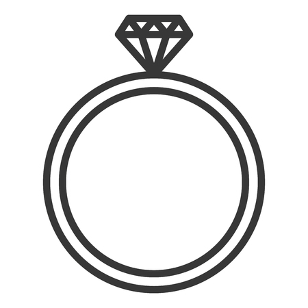 diamond ring isolated icon vector illustration design