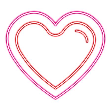 heart love with neon light vector illustration design Illustration