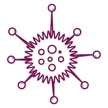 単細胞細菌実験室アイコンベクトルイラスト設計  イラスト・ベクター素材