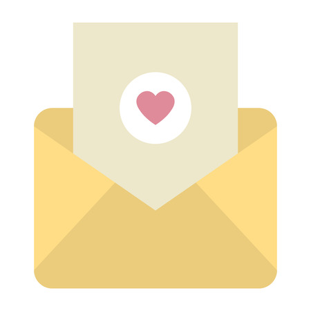 envelope with heart love vector illustration design