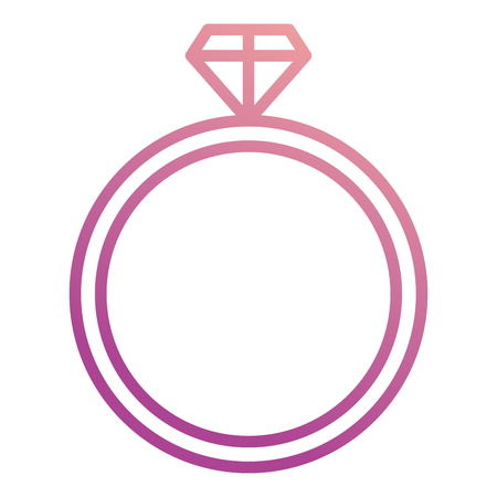 diamond ring isolated icon vector illustration design