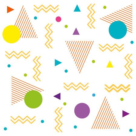 geometric figures art work background vector illustration design