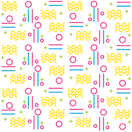 geometric figures art work background vector illustration design Фото со стока - 98576030