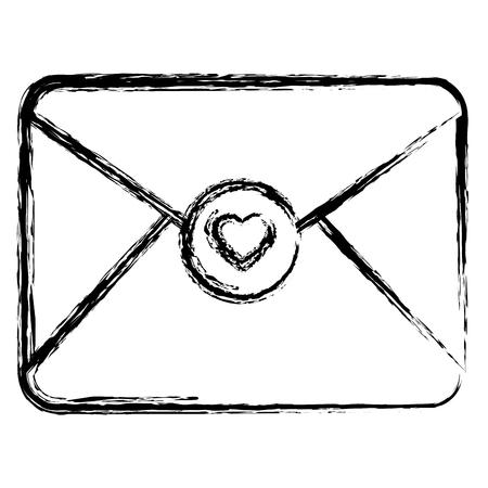 envelope with heart love vector illustration design