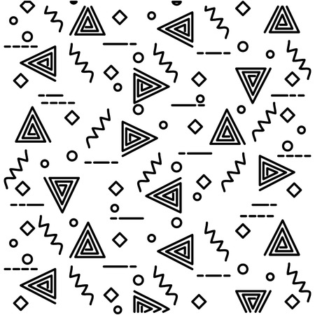 geometric figures art work background vector illustration design