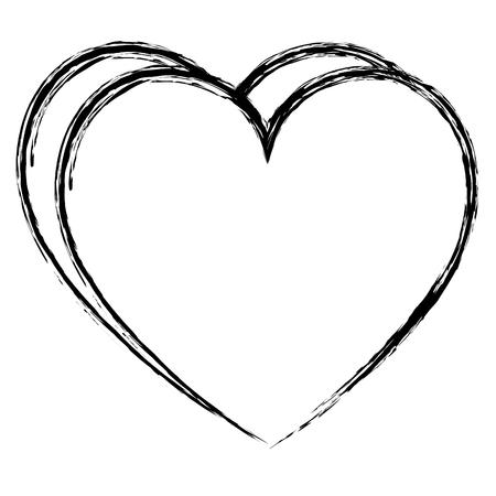 hart liefde geïsoleerde pictogram vector illustratie ontwerp