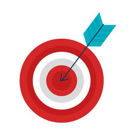 target with arrow icon vector illustration design Stok Fotoğraf - 98595787