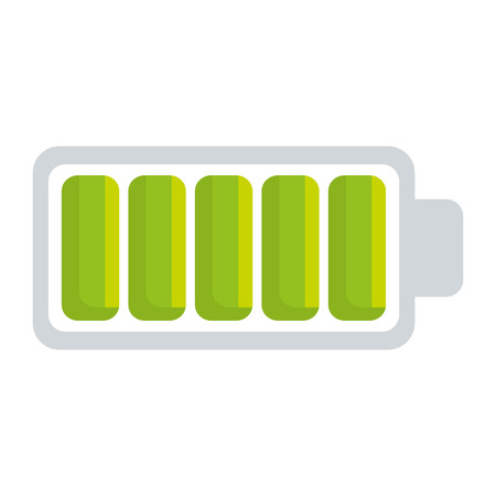 battery level full isolated icon vector illustration design Illustration