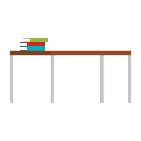 pile text books in table vector illustration design Ilustração