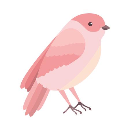 美しいプラムベクタイラストデザインのかわいい鳥