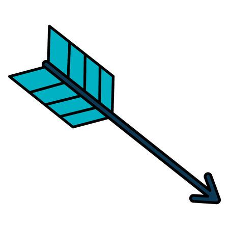 arrow fly isolated icon vector illustration design Çizim