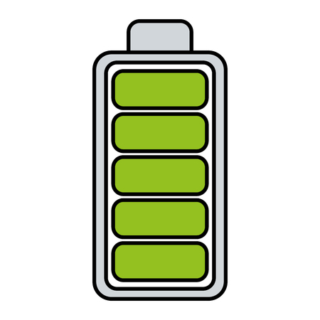 Batterie Ebene voll isoliert Symbol Vektor-Illustration , Design , Standard-Bild - 98577453