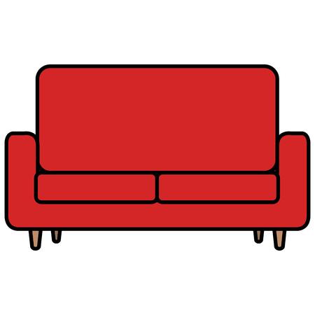 Progettazione dell'illustrazione di vettore dell'icona isolata sofà comodo Archivio Fotografico - 98577475