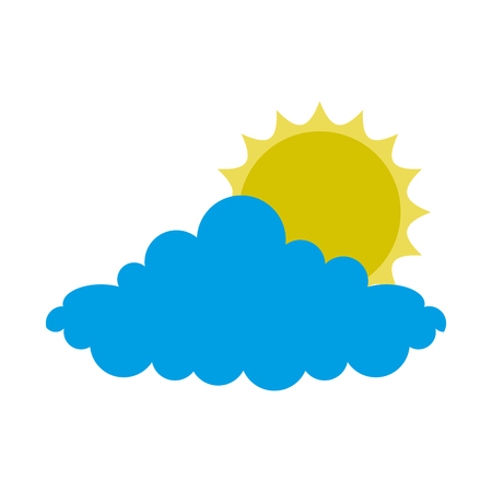 weather sun cloud day vector illustration design Illustration