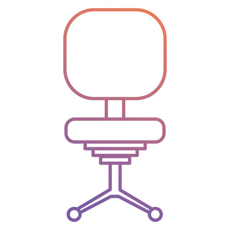 Office chair isolated icon vector illustration design Illustration