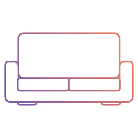 Progettazione dell'illustrazione di vettore dell'icona isolata sofà comodo Archivio Fotografico - 98761675