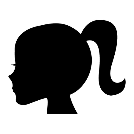 Female head profile silhouette vector illustration design