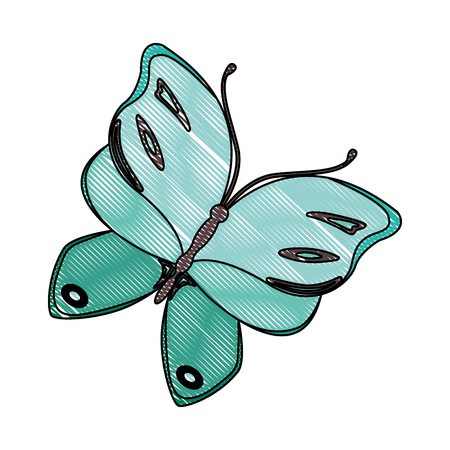 Beautiful butterfly flying icon vector illustration design Illustration