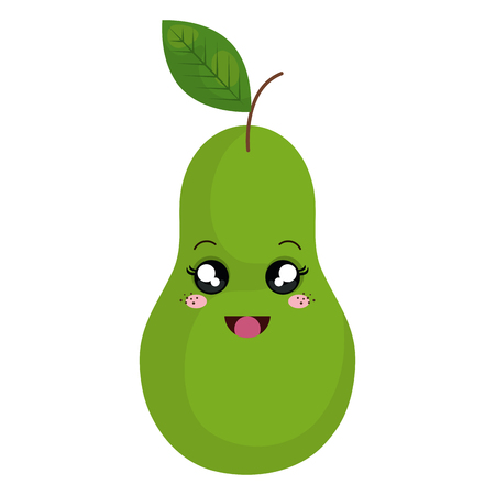 fresh pear fruit icon vector illustration design