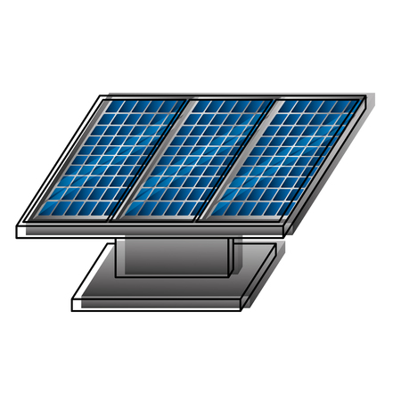 panel solar energy sustainable vector illustration design