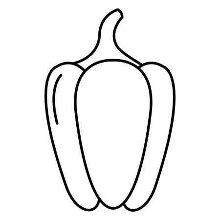 pepper vegetable healthy food vector illustration design