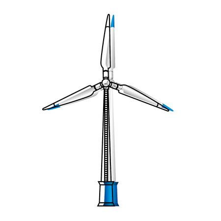 energy renewable turbine icon vector illustration design Illustration