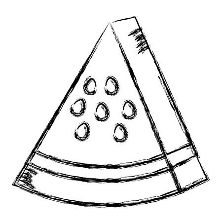 fresh watermelon fruit icon vector illustration design