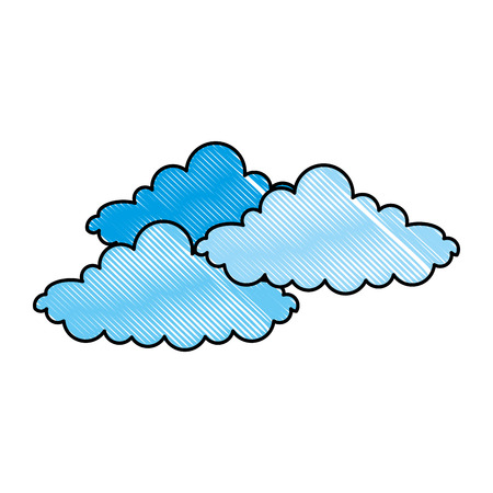 weer wolken geïsoleerd pictogram vector illustratie ontwerp