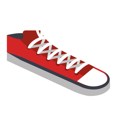 shoes style young icon vector illustration design