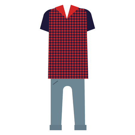 classic hipster style clothes vector illustration design  イラスト・ベクター素材