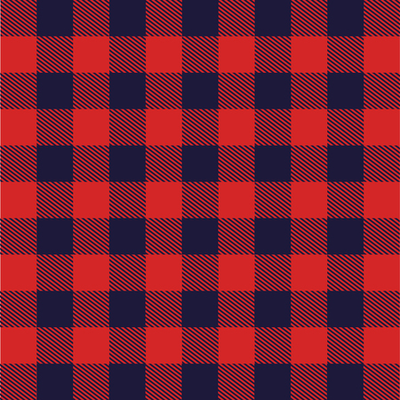 fabric with Scottish grid vector illustration design Çizim