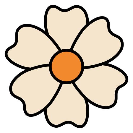 美しい花装飾アイコンベクトルイラストデザイン