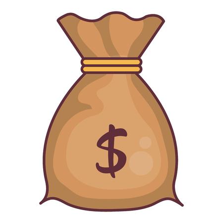 Money bag isolated icon vector illustration design Ilustração