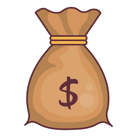 Money bag isolated icon vector illustration design Illustration