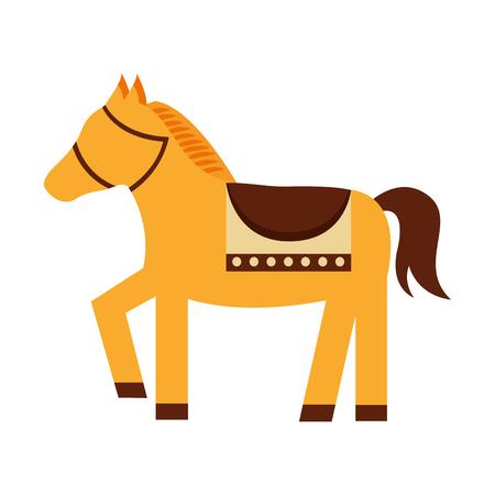 Cute horse animal icon vector illustration design Ilustração