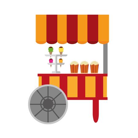 Circus ice cream shop vector illustration design Stock Illustratie