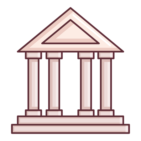 Bank, school building isolated icon vector illustration design.