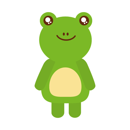 Cute toad animal icon vector illustration design  イラスト・ベクター素材