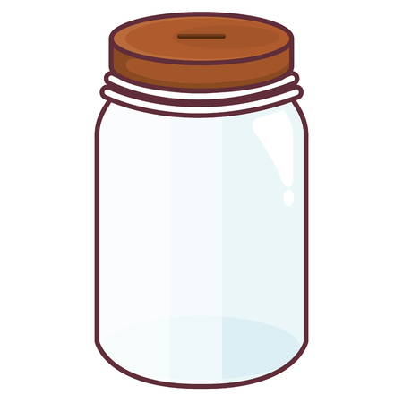 Glass jar empty icon vector illustration design Vettoriali