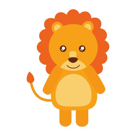 Diseño lindo del ejemplo del vector del icono animal del león Ilustración de vector