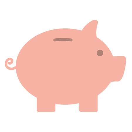 Schweinchen Spar isoliert Symbol Vektor-Illustration , Design , Standard-Bild - 98730062