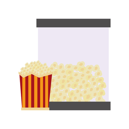 Pop corn with dispenser machine vector illustration design. Illustration