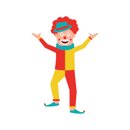Circus clown comic character vector illustration design.