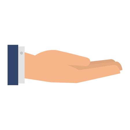 Hand human receiving icon vector illustration design.