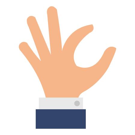 Hand taking isolated icon vector illustration design Stock Illustratie