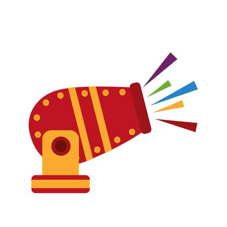 Circus cannon entertainment icon vector illustration design.