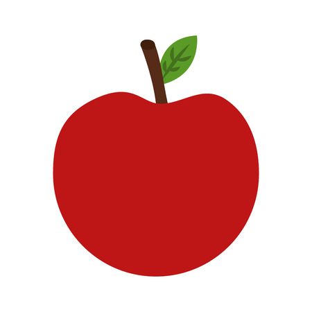 Fresh apple fruit healthy food vector illustration design.
