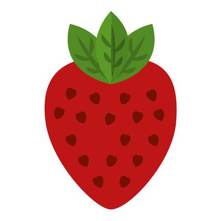 Fresh strawberry fruit healthy food vector illustration design. Illustration